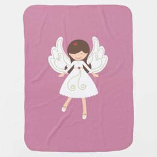 Manta De Bebe Cobertura da menina do anjo