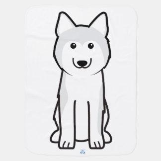 Manta De Bebe Desenhos animados do cão do rouco Siberian