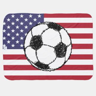 Manta De Bebe Esboço do futebol dos EUA