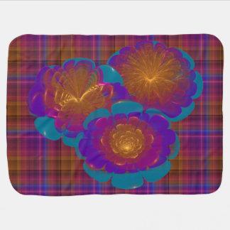 Manta De Bebe Estourando a arte abstracta das flores