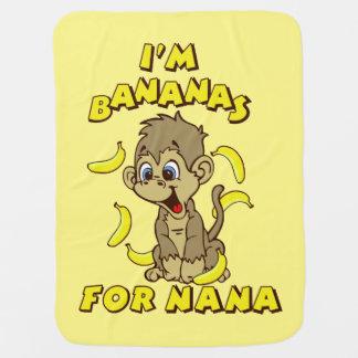 Manta De Bebe Eu sou bananas para Nana