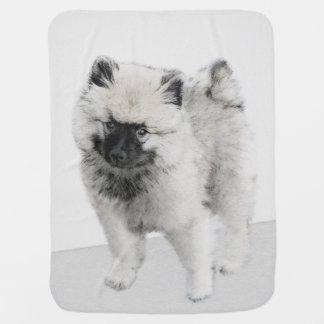 Manta De Bebe Filhote de cachorro do Keeshond (desenho)