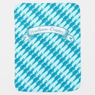 Manta De Bebe Jacaré azul personalizado do Aqua do bebé