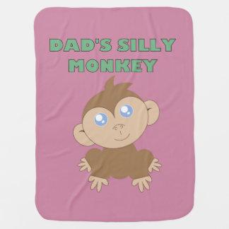Manta De Bebe Macaco parvo - cobertura do bebê