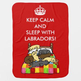 Manta De Bebe Mantenha Labradors calmo