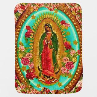 Manta De Bebe Nossa Virgem Maria mexicana do santo da senhora