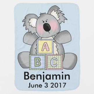 Manta De Bebe O Koala personalizado de Benjamin
