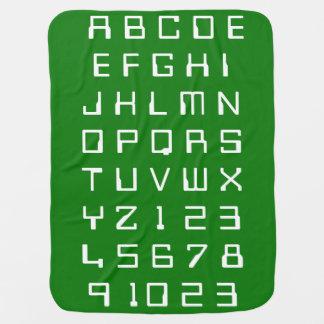 Manta De Bebe Os números dos alfabetos das crianças do bebê dos