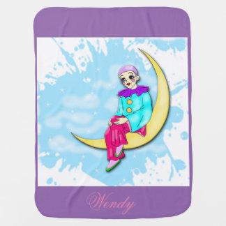 Manta De Bebe Palhaço na cobertura da lua