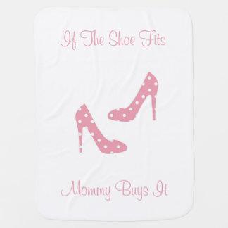 Manta De Bebe Se os calçados cabem a cobertura cor-de-rosa do