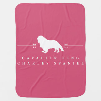 Manta De Bebe Silhueta descuidado -2- do Spaniel de rei Charles