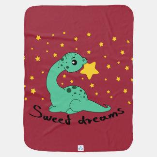 Manta De Bebe Sonhos doces do Apatosaurus