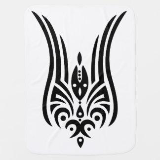 Manta De Bebe Tatuagem tribal PRETO - tulipa + suas ideias