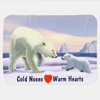 Manta De Bebe Urso polar - Mama Nariz Melhor