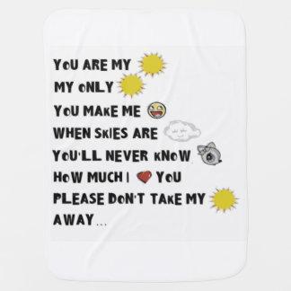 Manta De Bebe Você é meu crivo da luz do sol