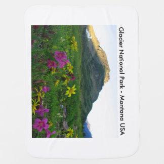Manta De Bebe Wildflowers gerais do parque nacional de geleira