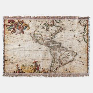 Manta Mapa bonito do vintage de America do Norte