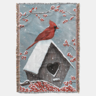 Manta Neve cardinal do norte do inverno