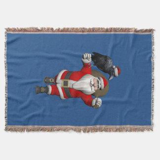 Manta Papai Noel engraçado ama corvos