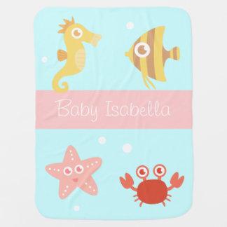 Manta Para Bebe Animais subaquáticos de Kawaii, para bebês