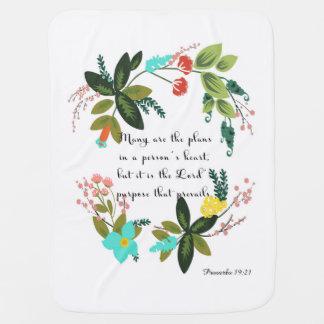Manta Para Bebe Arte inspirada cristã - 19:21 dos provérbio