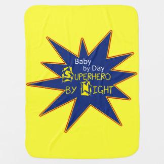 Manta Para Bebe Bebê pelo super-herói do dia pela cobertura da