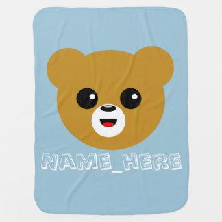 Manta Para Bebe Cara feliz bonito do urso