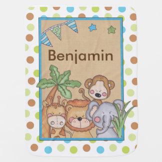Manta Para Bebe Cobertura da selva de Benjamin