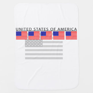 Manta Para Bebe Cobertura do bebê da bandeira dos Estados Unidos