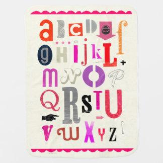 Manta Para Bebe Cobertura do bebê do alfabeto!