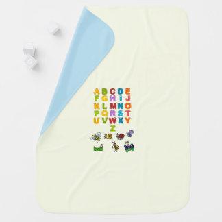 Manta Para Bebe Cobertura do bebê dos animais e dos alfabetos do