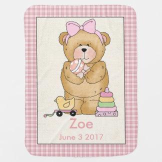 Manta Para Bebe Cobertura personalizada do urso do bebê de Zoe
