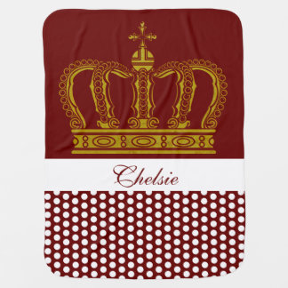 Manta Para Bebe Coroa real dourada + seu backgr. & ideias