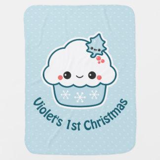 Manta Para Bebe Cupcake adorável do feriado