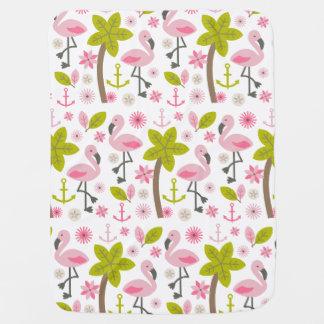 Manta Para Bebe Flamingos cor-de-rosa + Cobertura do bebê das