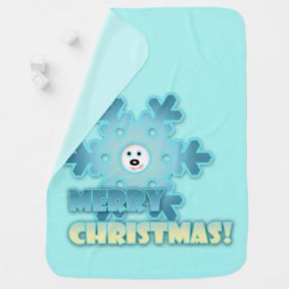 Manta Para Bebe Floco de neve do Natal