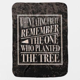 Manta Para Bebe Gratitude/acção de graças - provérbio velho sábio