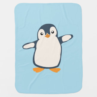 Manta Para Bebe Ilustração do bebê do abraço do pinguim