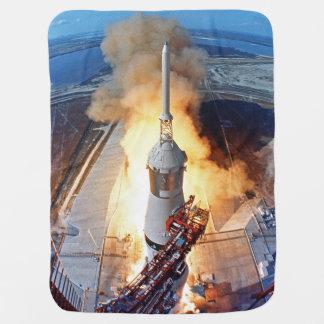 Manta Para Bebe Lançamento de Rocket da aterragem de lua da NASA