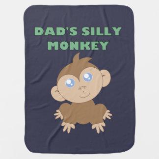 Manta Para Bebe Macaco parvo - cobertura do bebê