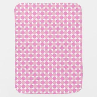 Manta Para Bebe Menina cor-de-rosa das bolinhas