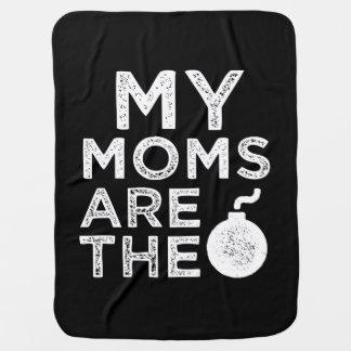 Manta Para Bebe Minhas mães são a cobertura engraçada da camisa do