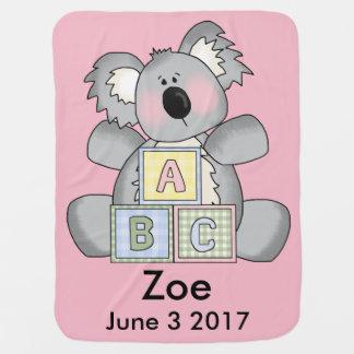 Manta Para Bebe O Koala personalizado de Zoe