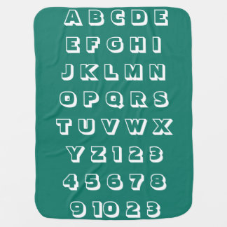 Manta Para Bebe Os números dos alfabetos das crianças do bebê dos
