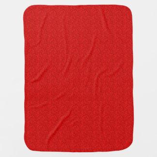 Manta Para Bebe Paisley vermelho