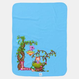 Manta Para Bebe Princesa Muffin & arte do pixel dos amigos