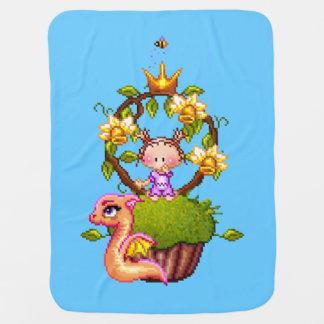Manta Para Bebe Princesa Muffin Pixel Arte