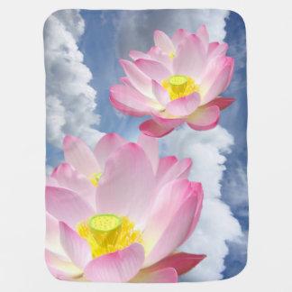 Manta Para Bebe Somente uma flor de Lotus + seus texto & ideias