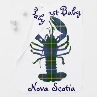 Manta Para Bebe Tartan de Nova Escócia da lagosta do Natal da