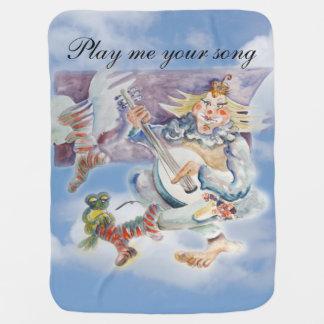 Manta Para Bebe Tempo da música nas nuvens